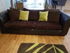 Large 3 seater and 2 seater sofa