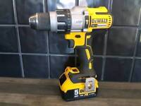 DeWALT DCD996 BRUSHLESS COMBI DRILL,3 Speed, 18V, XR, Li-ion + 5ah battery_____Makita Hilti DeWALT