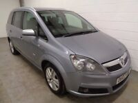 VAUXHALL ZAFIRA 1.8 2007/07, 7 SEATER MPV, LOW MILES, YEARS MOT, HISTORY, WARRANTY,FINANCE AVAILABLE