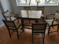 Antique Extendable Table with Chairs