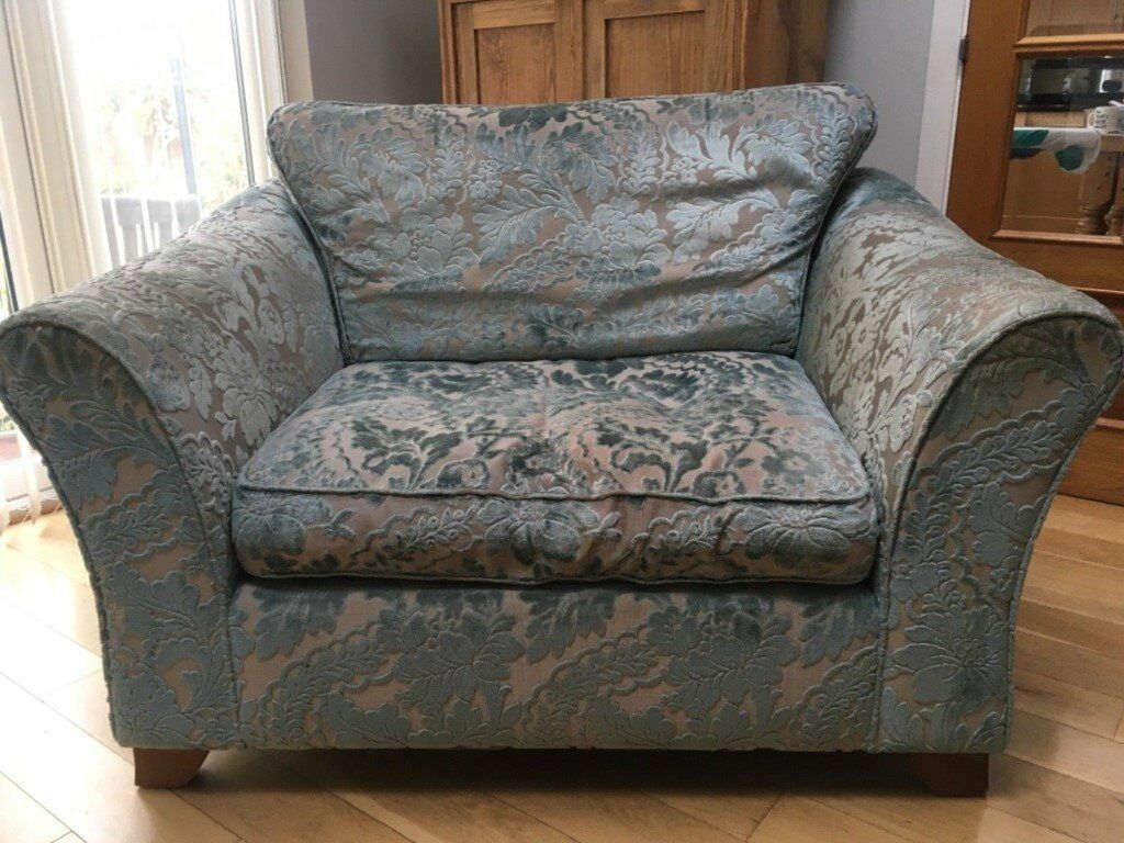 M S Love Seat Cuddle Chair Small Sofa With Storage Footstool