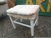 Fabric Covered Dressing Table Stool Delivery Available