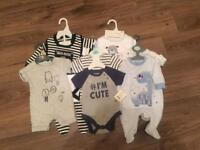 Baby boy bundle tiny baby uptoo 3month PLUS Moses basket