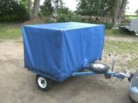 UNIQUE COVERED MOBILITY SCOOTER TRANSPORTER/STORAGE CAR TRAILER..