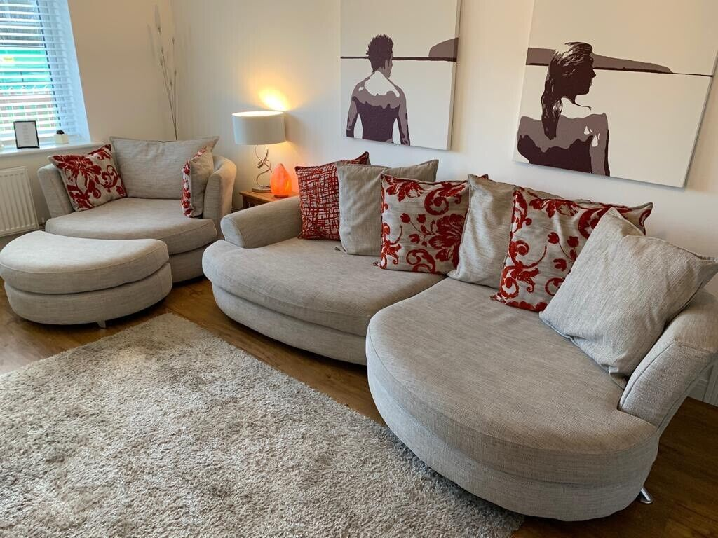 Sofa And Swivel Cuddle Chair Set In Broadstone Dorset Gumtree
