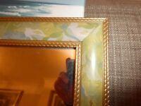 Pretty Mirror in pastel blue/green shades 47cm x 58cm
