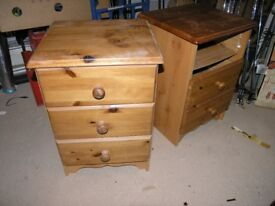 Pine Bedside Drawers Weymouth