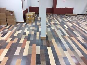 Plancher de bois franc prevernis seulement 1$/pc