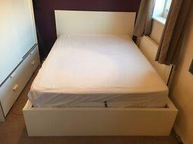 Ottoman Ikea Malm Double Bed 140x200cm