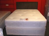 Double Divan Bed Set with Orthopaedic Memory Foam Sprung Mattress . Brand New in Factory Wrapping