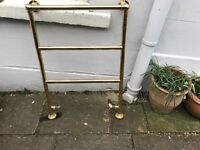 Vintage gold towel radiator