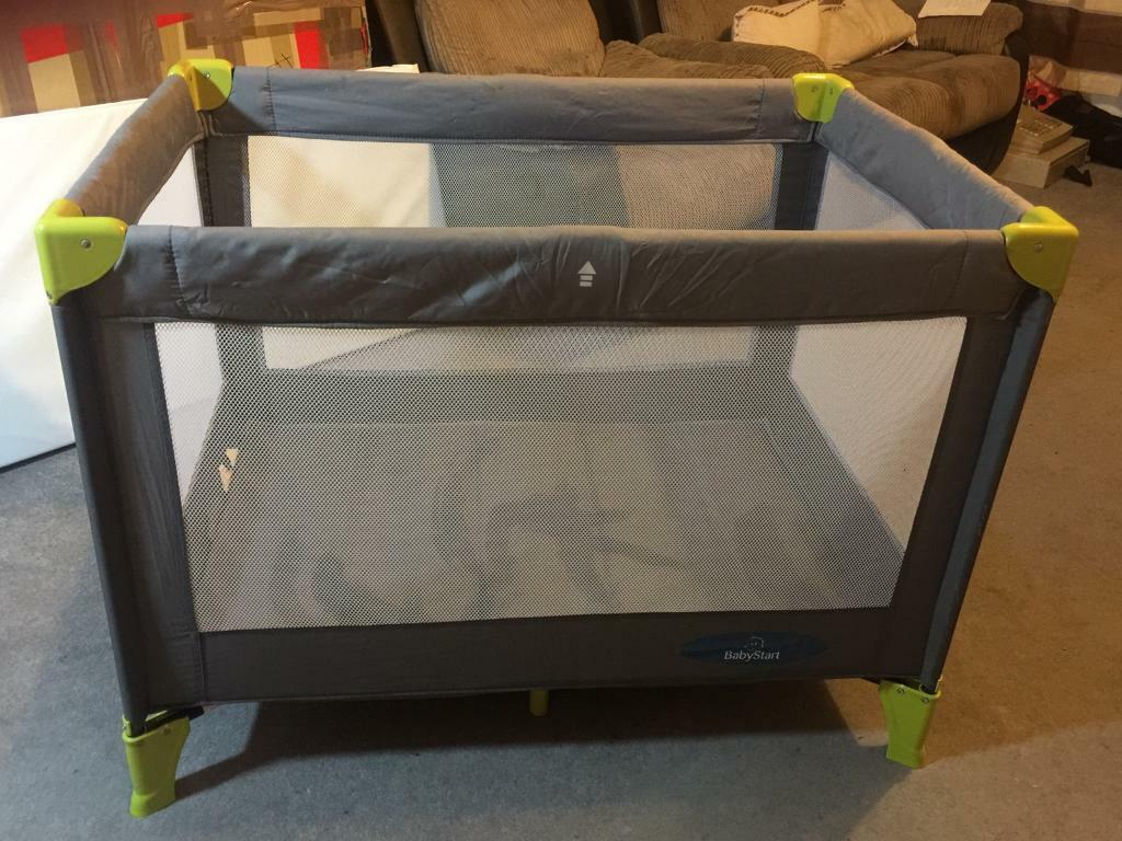 TRAVEL COT & PLAYPEN - FOLDS SMALL FOR STORAGE!!