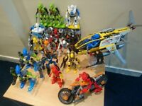 Lego Hero Factory, Bionicles Huge Collection - too many for one photograph!