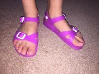 Berkinstock purple sandals size 2uk