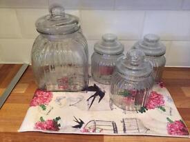 Glass Jars x 4