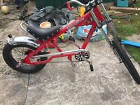 Immaculate red chopper bike 12-14 approx