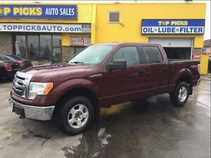 2010 Ford F-150 XLT, CREW CAB, ALLOYS, V8, 4X4 AND MORE