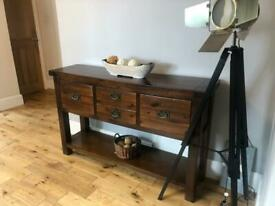 Console Table Dark Mahogany colour rustic styling