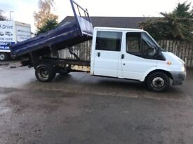 2007 TRANSIT DOUBLE CAB TIPPER