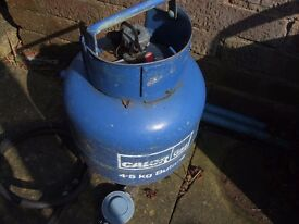 4.5 kilo butane gas bottle and regulator