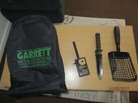 metal detector accessories,whites probe ,garrett backpack,black ada scoop,kniffe