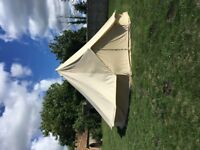 7m SANDSTONE BELL TENT - IMMACULATE CONDITION
