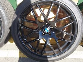 BMW ALLOY WHEELS 22 AND NEW TYRES PER £500
