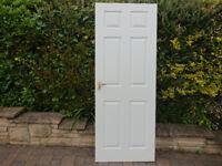 Door White Wood Internal panneled