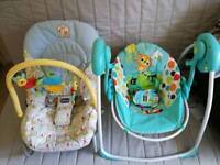 Chicco Bouncer & Bright Starts Swing