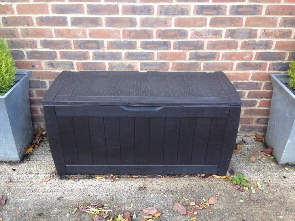 large brown plastic garden storage box in henley on thames oxfordshire gumtree