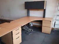 Corner Desk 180cm X 120cm with overhead storage. Delivery
