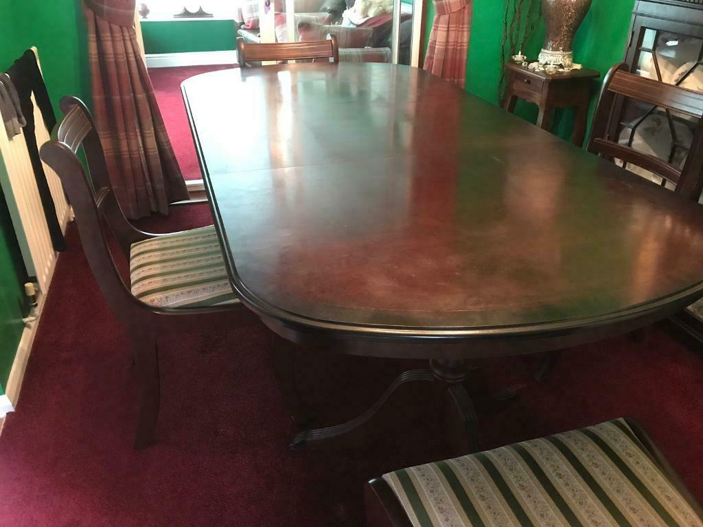 Brilliant Mahogany Dining Table 4 Chairs For Sale In West End Hampshire Gumtree Download Free Architecture Designs Scobabritishbridgeorg