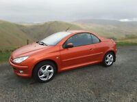 PEUGEOT 206 CC, 2001/51. ONLY 42,243 MILES FROM NEW. FULLY DOCUMENTED HISTORY OF 15 STAMPS.
