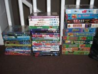 Selection of dvds and vhs