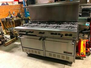 "Cuisiniere 10 Ronds ""Garland"" H284 Commercial Gas Range 10 Burners"