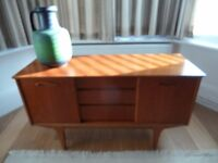 1960's Teak Sideboard TV stand Storage unit Cupboard Small Retro Mid Century Modern Symmetrical