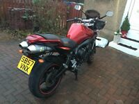 Yamaha Fazer FZ6 S2 600cc Metallic Red with Leo-Vince exhaust