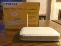 Netgear 54 Mbps Wireless Print Server w/ 4-port Switch