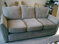 3 seater settee fawny grey