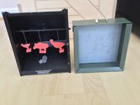 Air rifle targets, Bisley and Beaman pellet trap.