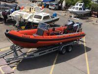 RIB BOAT Tornado 7.5M twin Yamaha 150HP HPDI outboards, Trailer Dive Boat