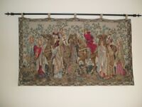 """The Crusaders Depart - 43"""" x 26"""" Tapestry Wall Hanging"""