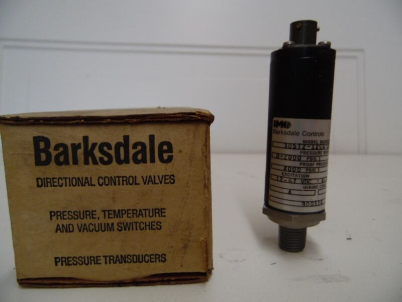 NIB Barksdale Controls 305T2-12CG-11-L Pressure Transducer