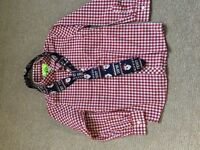 Next Boys Christmas Shirt and Musical Tie