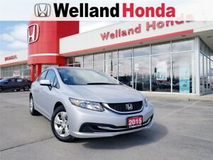2015 Honda Civic LX CVT CERTIFIED PRE-OWNED!!|ACCIDENT FREE