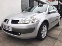 Renault Megane 1.6 VVT Dynamique 5dr PARTS & LABOUR WARRANTY