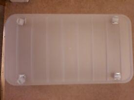 Large storage drawer (on wheels / castors)