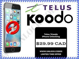 Telus / Koodo - iPhone Unlocking - ONLY $29.99