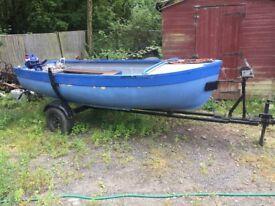 12 ft fishing dinghy 8hp yamaha