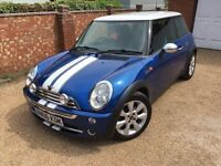 2006 MINI COOPER 1.6 BLUE (Leather interior) Mot end of Feb 2018 - Great conditon must see!